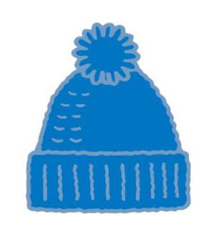 藍色針織帽