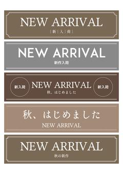 New arrival pop horizontal set