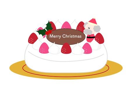 Christmas dome cake with Santa