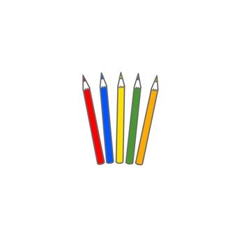 Colored pencils / primary colors (color, transparent)