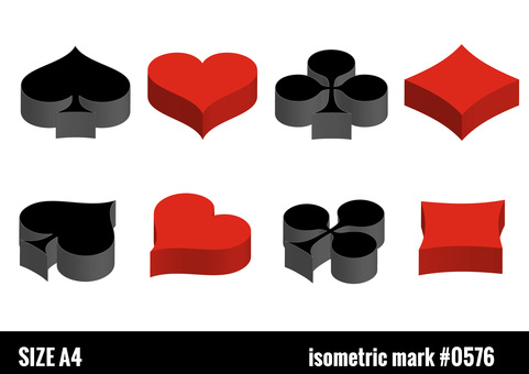 Isometric playing card mark