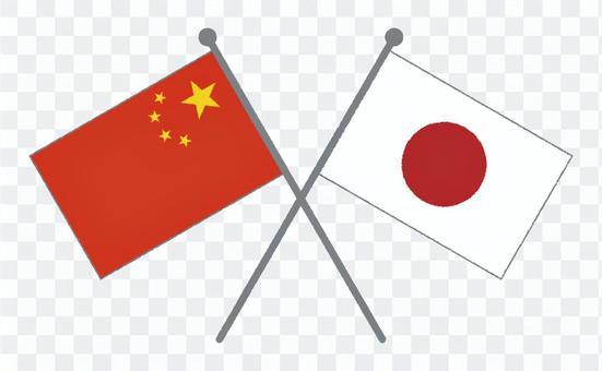 國旗(日本&中國)