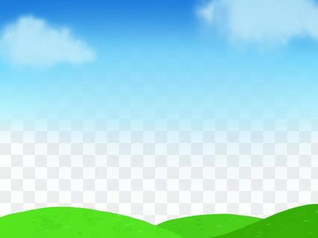 天空,天空和雲彩