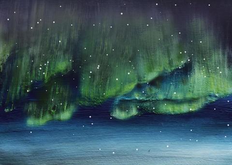水彩極光背景
