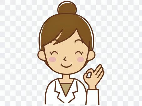 一位微笑的醫生顧問