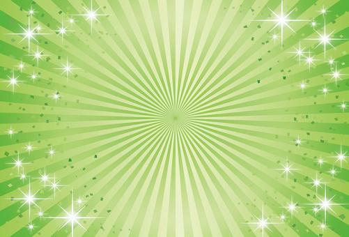 新綠色 - 初夏的輻形漸進背景圖像