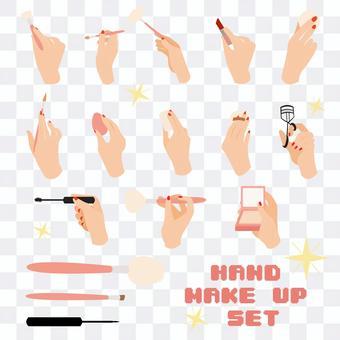 Illustration of makeup tools