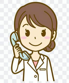 Female (doctor): A_phone 01BS