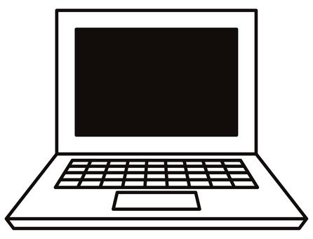 簡單的筆記本電腦圖標