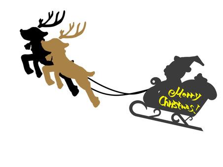 聖誕老人和馴鹿