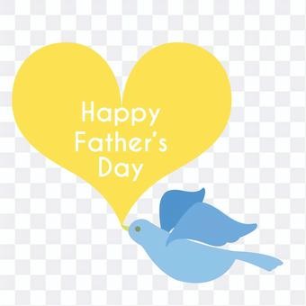 Father's Day Bird and Heart One Point Headline