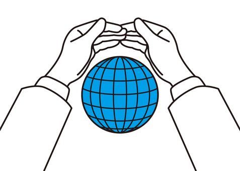 지구를 지키는 이미지