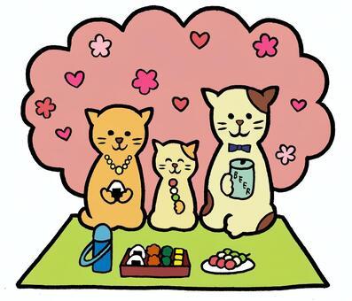 Ohanami Cat Cat Family