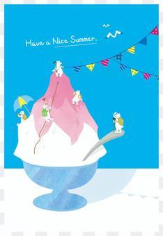手繪賀卡在夏天