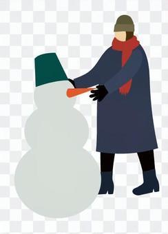 女人堆雪人
