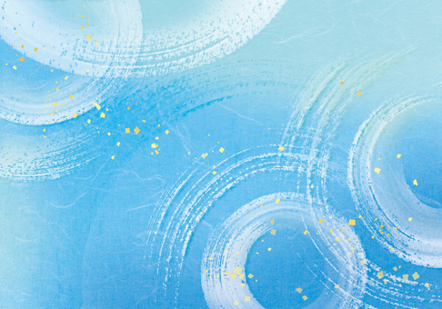 水 / 涼爽 / 夏季圖像水彩背景藍色漣漪