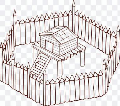 要塞  砦  城門