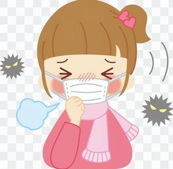 一個感冒的女孩