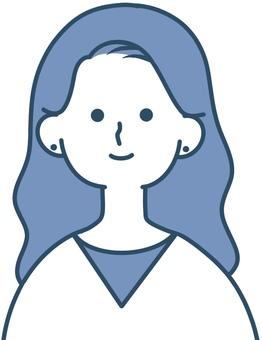 女性臉圖標