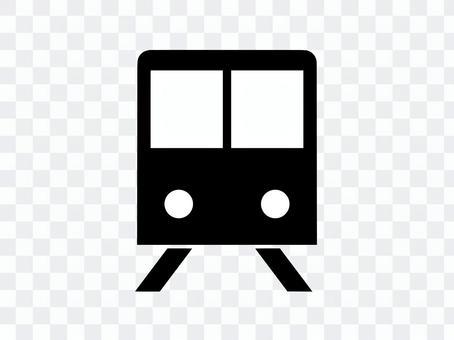 火車圖標剪影黑色