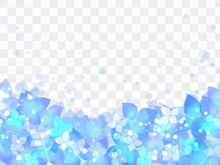 繡球花框架02 /藍色