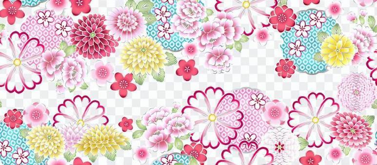 櫻花,牡丹,雪環紋,色板