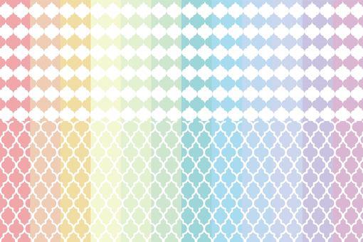 摩洛哥圖案彩虹顏色集