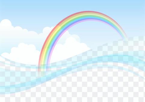 曲線,雲彩和彩虹