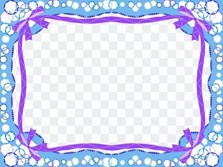 絲帶和閃光珠寶鏡框