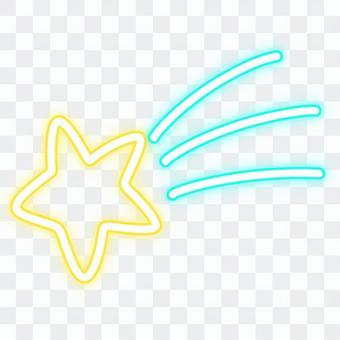 霓虹燈招牌流星,淺藍色