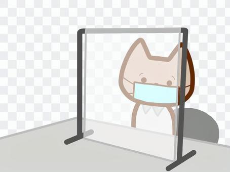 ビニールシート設置猫さん