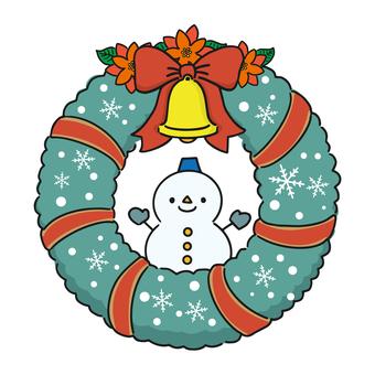 聖誕花環(雪人)