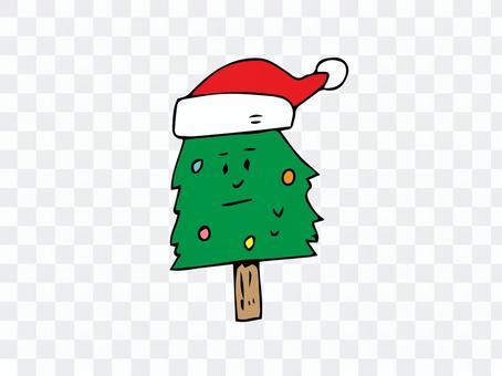 クリスマスツリー 顔 表情 シュール