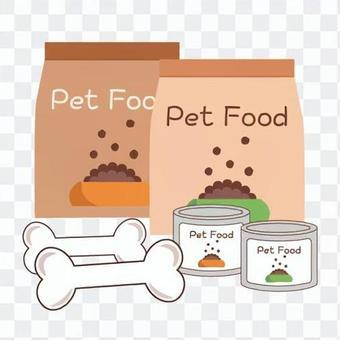 寵物食品的各種圖像