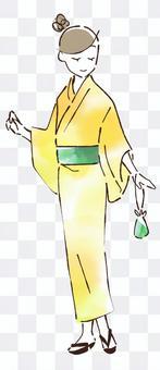 浴衣_黃色