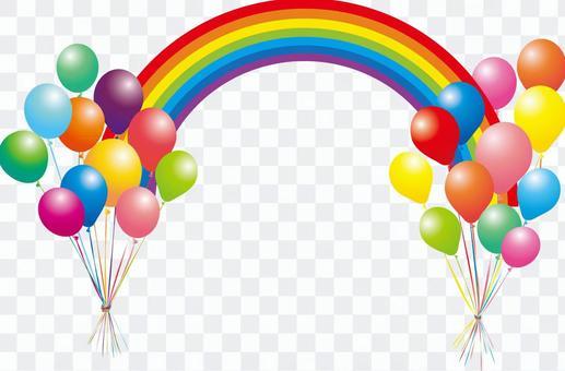 Sports balloon balloon balloon rainbow frame illustration decoration