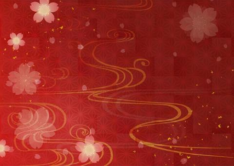 Japanese style background material 24