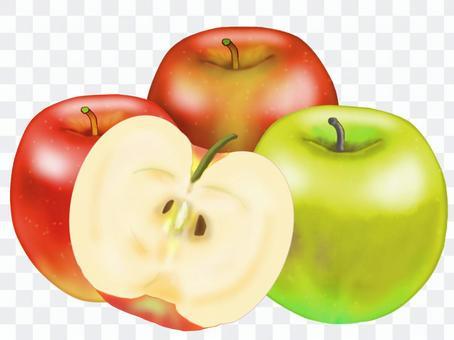 蘋果(半切)