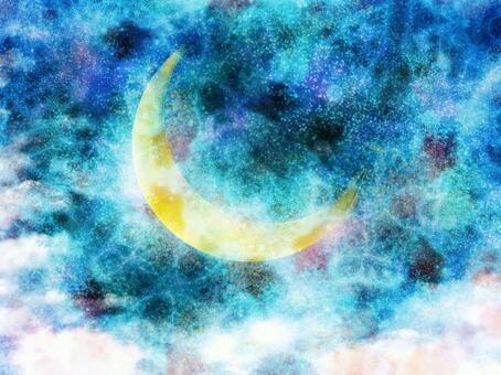 新月藍色的天空