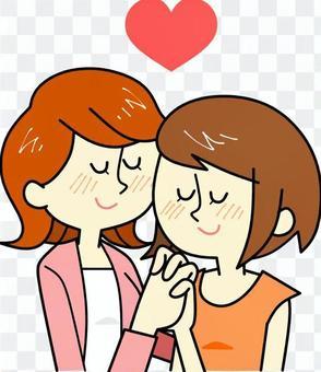 Female gay couple