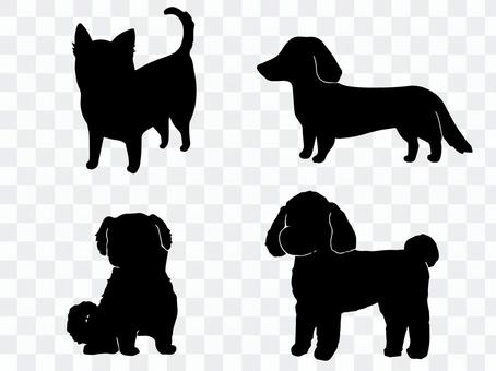 Small dog (silhouette)