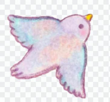 可愛的飛翔的鳥
