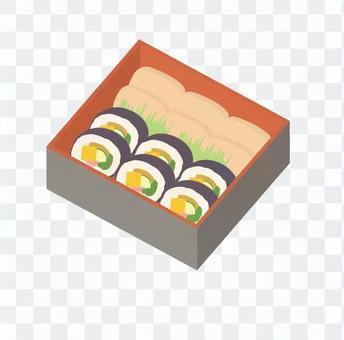 Rolled sushi and Ibaraki sushi