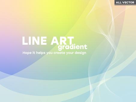 Gentle pastel waveline background