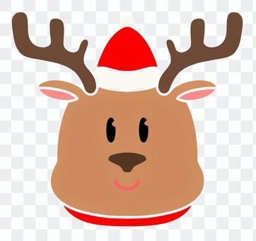 クリスマス トナカイ 表情、顔