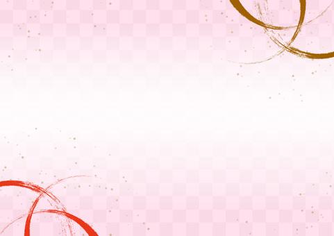 日式、日式圖案、金粉粉紅色背景材料
