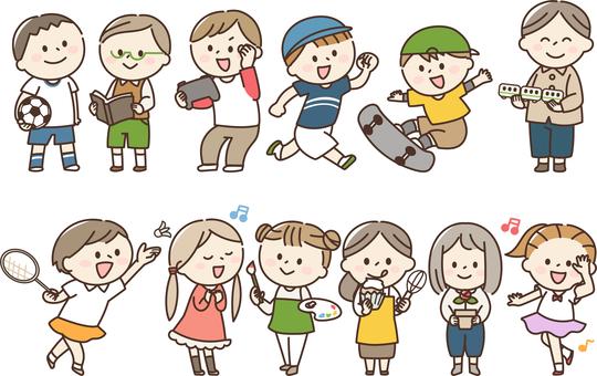 Children's hobby special skill set