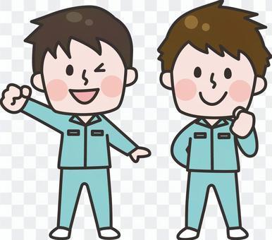 作業員_男性2人
