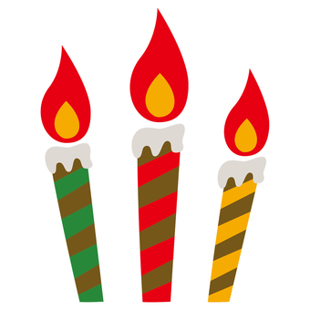 Candle-03 (Christmas color)