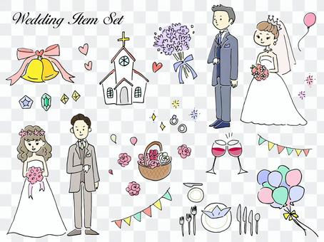 手繪婚禮插圖集